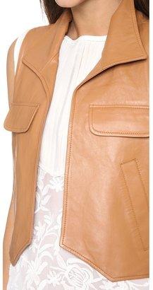 Piper gore Chloe Cognac Leather Vest