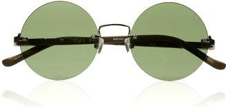 The Row Round-frame metal sunglasses
