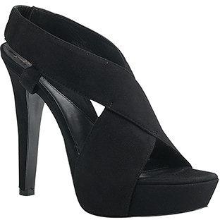 Diane von Furstenberg Zia - Black Suede Platform Sandal