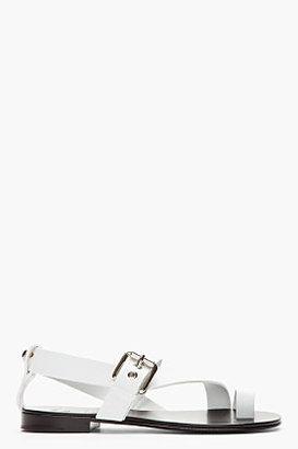 Giuseppe Zanotti White leather Gim sandals