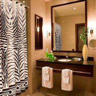 Bed Bath & Beyond Zebra Print 70-Inch x 72-Inch Shower Curtain