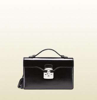 Gucci Lady Lock Leather Briefcase Clutch