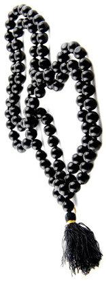 Karma Mantra Black Onyx Bead Necklace
