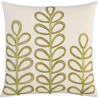 "CB2 Embroidered Botanical 18"" Pillow"