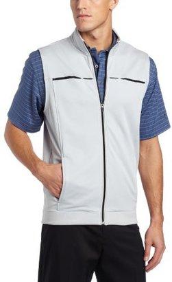PGA Tour Men's Full Zip Tech Fleece Contrast Grossgrain Vest