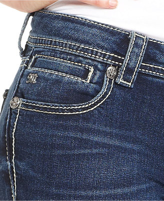 Miss Me Jeans, Bootcut Medium-Wash Rhinestone
