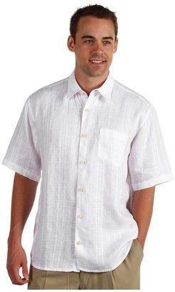 Tommy Bahama Via Palermo Camp Shirt (White) - Apparel