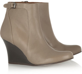Lanvin Leather wedge ankle boots