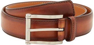 Magnanni Carbon Cognac Belt (Cognac) Men's Belts