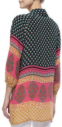 Tolani Long-Sleeved Print Tunic