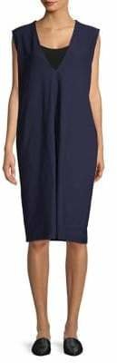 Eileen Fisher Deep V-Neck Knee-Length Dress