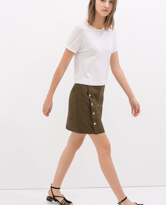 Zara Faux Suede Mini Skirt