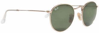Ray-Ban RB3447 Round 50mm Metal Sunglasses $150 thestylecure.com