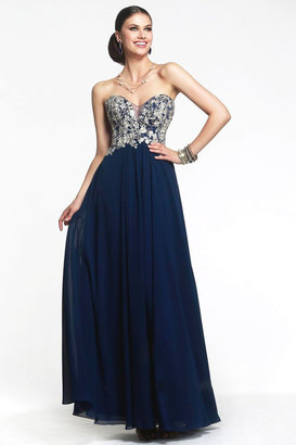 Faviana S7325 Long Strapless Prom Gown