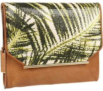 Vince Camuto Sabin Clutch (Palm Print) - Bags and Luggage
