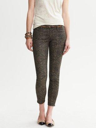 Banana Republic Heritage Jacquard Skinny Ankle Zip Pant