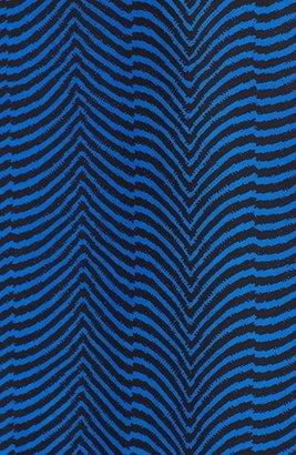 Vince Camuto Zigzag Print Wrap Front Blouse