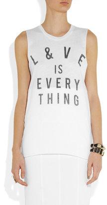 Zoe Karssen L&VE is Everything cotton-blend tank
