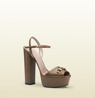 Gucci Leather Platform Sandal