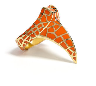 Dominic Jones DJ By Orange Gold Plated Claw Ring