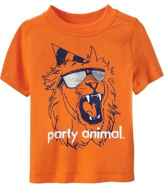 Old Navy Party Animal Graphic Tees for Baby