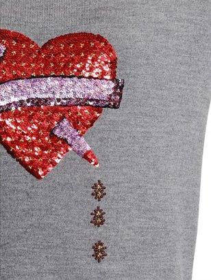 Markus Lupfer Bleeding Love Sequined Wool Sweater