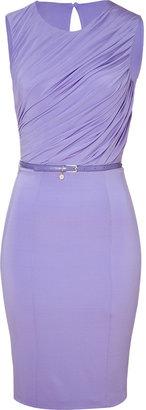 Blumarine Lilac Draped Dress
