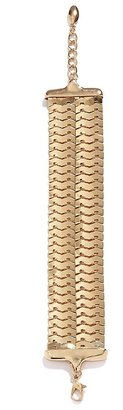 GUESS Gold-Tone Double Row Scales Bracelet