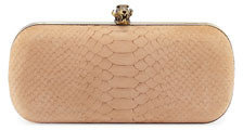 House Of Harlow Wynn Snake-Embossed Clutch, Stone