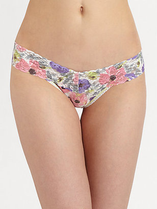 Hanky Panky Poppies Low-Rise Lace Thong