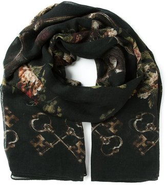 Dolce & Gabbana floral key print scarf