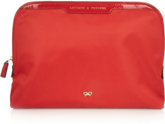 Anya Hindmarch Lotion and Potions patent leather-trimmed vanity case