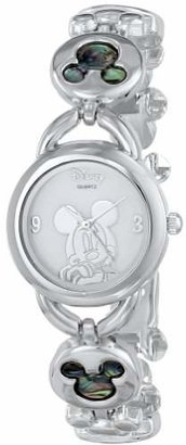 Disney Women's MK2006 Mickey Mouse Abalone Stone Links Bracelet Watch $29.99 thestylecure.com