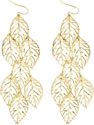 Warehouse Multi filagree leaf earrings.