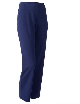 Croft and barrow pull-on straight-leg pants - petite