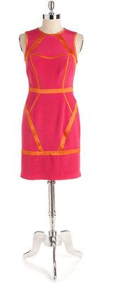 Nicole Miller Stretch Silk Sheath Dress