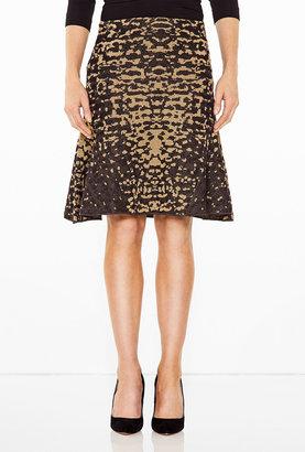 M Missoni Lizard Print Lurex Gold Skirt