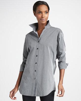 Go Silk Striped Long Shirt, Petite