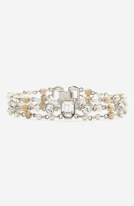 Givenchy 'Lark' Crystal & Bead Bracelet