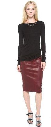 Zero Maria Cornejo Leather Nobi Skirt