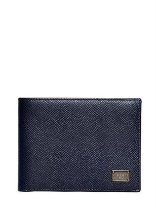 Dolce & Gabbana Dauphine Print Hammered Leather Wallet