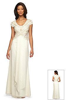 Alex Evenings Beaded Bodice Wedding Dress