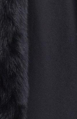Caruana Genuine Fox Fur Trim Cashmere Cape
