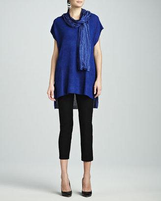 Eileen Fisher Cross-Dye Whisper Silk Wrap, Adriatic