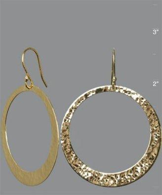 Argento Vivo gold hammered large hoop earrings