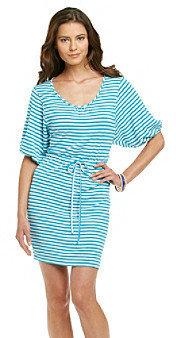 Calvin Klein Striped Scoopneck Dress