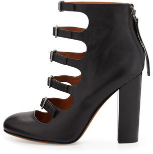 Marc by Marc Jacobs Multi-Strap Ankle Bootie, Black