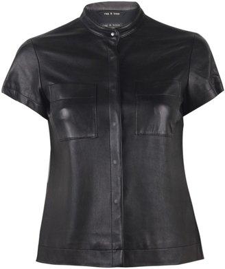 Rag and Bone Rag & Bone Adele Leather Shirt