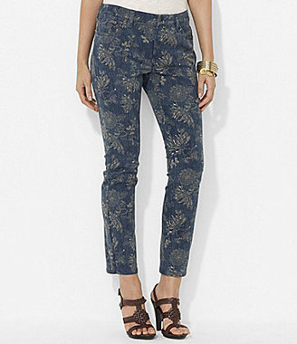 Lauren Ralph Lauren Petites Floral Straight Ankle Jeans