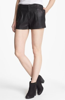 7 For All Mankind Pleated Coated Shorts